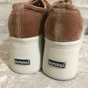4ce78e87868 Superga Shoes - Superga 2802 Velvet Super Platform Sneakers